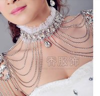 Wholesale HY Sparkle Crystals Wedding Accessories Bridal Jewelry Sets Earrings Necklaces Women Beautiful Wedding Jacket Wraps