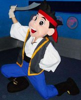 Wholesale Hot Selling Best price Jake Mascot Costume Adult Character Costume Jake and the Neverland Pirates Clothing