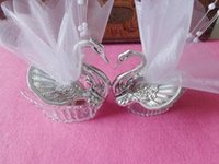 Wholesale 2015 Swan Candy box New wedding favors Acrylic Silver Swan Sweet Wedding Gift Jewely Candy box Candy gift box Wedding Favors holders