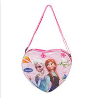 Wholesale sweet kids frozen bags childerns heart shaped frozen bags cute girls travel bags girls outdoor bags cute outdoor bags