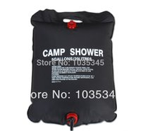 pvc pipe - 5Gallon Liter Solar Hot Water Bathing Bag Energy Powered Outdoor Camp Shower Hiking Pipe Bag Survival Equipment
