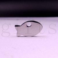 Wholesale Small pendants fish mm Highly polished stainless Jewelry Accessories used for zippers bags jewelry key chains