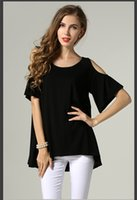 tunic shirt - Women Tops Open Shoulder Shirts Women Clothes Summer Casual Simple Girls Clothing Ladies Sexy Short Half Sleeves Loose Comfortable Tunic