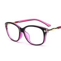 Wholesale 2016 New Hot Sale Hipster Glasses Retro Oval Frame Rhinestone Eyeglasses Frames Wild Match Oversize frame glasses women