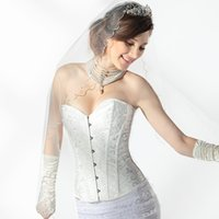 Wholesale Bridal Undergarments High Quality Bridal Accessories Sweetheart Corset White Buckrem For Wedding Events US2 US20W