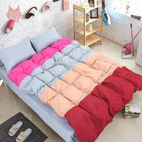 beding sheets - Multi color stripe capa de edredon Bed sheet Pillow case set SP2419 Christmas beding sets comforter cover set