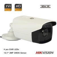 Wholesale Hikvision quot CMOS MP P HD TVI Outdoor Bullet Camera EXIR LEDs OSD m IR