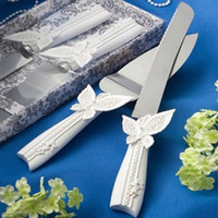 stainless steel cake knife - New Fashion Personalized Wedding Party Wedding Cake Knife Server Set Stainless Steel Wedding Supplies JM0016 Kevinstyle
