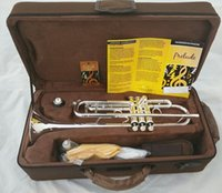 Wholesale EMS DHL the trumpet Vincent Bach LT S silver trumpet musical instrument playing