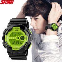 Cheap SKMEI Best Digital Watch Men's Clock for Sports Digital Movement With LED Display Wholesale Wristwatch WA3025