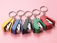 Wholesale Creative small gifts stationery stapler Children s Day gift super small puzzle you Stapler Keychain