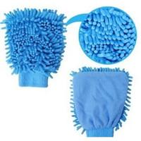 Wholesale F09945 Piece Chenille Single Side Clean Glove Ultrafine Fiber Cleaning Towel Coral Fleece Gloves Rondom Color