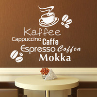 bakery shop - Delicious coffee cup vinyl quote removable wall Stickers DIY home decor Bakery cafe shop Kitchen wall art MURAL