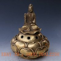 animal hand signs - China brass hand carved Guanyin lotus incense and Ming sign
