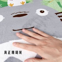 alarm carpet - Tamehome Exported to Japan Miyazaki Totoro TOTORO cartoon strip mat slip pad coral velvet carpet mats