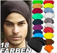 Wholesale HOT Sell South Korean new autumn and winter hat cotton candy colored sets of headgear for men