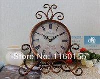 alarm clock types - Novelty Europe Type Wrought Iron Palace Pastoral Table Clock