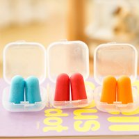Wholesale Ear Care bullet shape Foam Sponge Earplug Ear Plug Keeper Protector Travel Sleep Noise Reducer Acoustic earplugs noise reduction Free DHL
