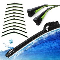 acura windshield wipers - High Quality Brand New Car Flat U type Frameless Bracketless Rubber Windshield Windscreen Wiper Blade A5