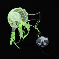 Wholesale Super Jellyfish For Aquarium Glowing Effect Fish Jar Tank Ornament Swim Decor