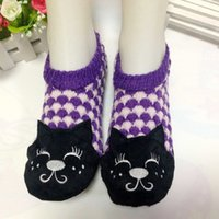 Wholesale good quanlity Cut cat fwomen winter warm shoes indoor slippers