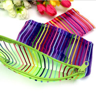 beauty gift bags - Cosmetic bags transparent nylon mesh cosmetic bags Colorful Makeup Bags Fashion storage bags beauty case Wedding gifts D270