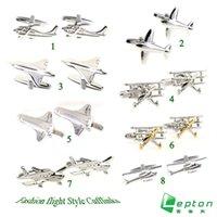 aircraft designer - Lepton Classic Aircraft styling cufflinks men s designer cufflinks plane silver cufflink custom cuff links