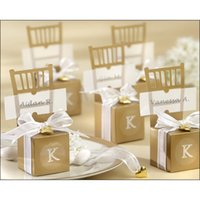 wedding favours - Favour Holder Paper Gold Sliver Chair Wedding Gift Boxes Free Shiping Wedding Favor