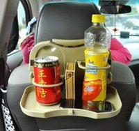 Wholesale Car Drink Tray Car Crame With Water Car Cupholder Dinner Plate Rear Drink Tray Multifunction Foldable Facility Plate Black Khaki N1091