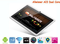 Wholesale 7inch tablet pc Q88 Allwinner A23 Tablet PC Dual Core Android Dual Camera WIFI M GB Capacitive Screen a23 cheap tablets PAb