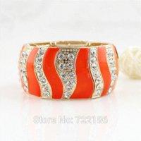big braceletes - Enamel Bangles Luxury Bracelet Jewelry Big Size Jewelry Elastic Rhinestone Bangles and Bracelets Pulseiras Braceletes