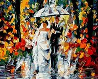 acrylic canvas - 2015 New Magic DIY Acrylic Paint By Numbers Kit Painting On Canvas x20 quot x50cm Frameless Landscape Deeply Attached SA871