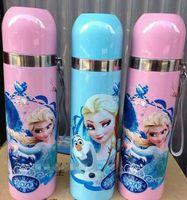 Wholesale New arrival Children Boys Girls Gift Warter Bottles Student Office Keep Warm Bottle Frozen Elsa Anna Stainless Steel Vacuum Cup