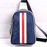 backpack chest strap - Fashion Adjustable Strap Shoulder Bag Stripes Canvas Chest Backpack Gentlemen s Travel Hiking Pack hb354
