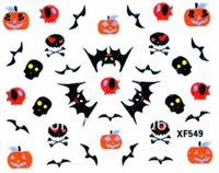 art flower delivery - Free delivery x d nail art flower sticker labeling Style designs avialable XF549 XF558 Halloween series