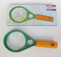 bifocal magnifier - 90MM bifocal magnifier magnifying plastic racquet features two lenses with compass