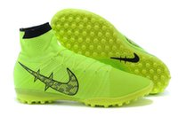 Wholesale Indoor football shoes for sale mens Superfly FG CR7 ACC soccer cleats boy shoes high tops sports shoes indoor soccer boots for sale colors
