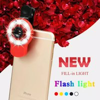 Wholesale RK09 LED Selfie In Using Light Multi Fuction Camera Flash Light Super External Flash Light Fisheye Lens for Smartphones
