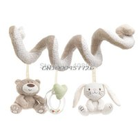 Wholesale baby bear Appease towel rabbit Round the Bed Hanging Rattle toy