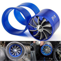 best gas saver cars - Best Promotion Blue Universal Car Fuel Gas Saver Supercharger For Turbine Turbo Charger Air Intake Fan Turbocharger