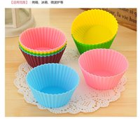 Wholesale ECO Friendly cm Silica gel Liners baking mold silicone muffin cup baking cups cake cups cupcake