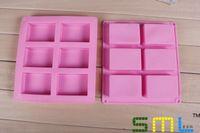 all'ingrosso 6 reticolo rettangolare stampi in pasticceria in silicone 100ml stampi tortiera bakeware soap # gp75