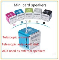 mini radio - TD V26 Portable Mini Speaker With FM Antenna Multi Speaker Support TF Card U Disk Digital Speakers
