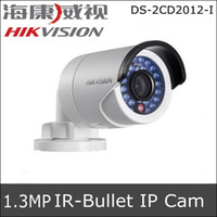 Wholesale Hikvision DS CD2012 I MP IR Mini Bullet Network IP Camera mm Lens Full HD P IR Range up to m D DNR Digital WDR POE