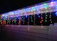 Wholesale 5M LEDs lights flashing lane LED String Icicle lamps curtain Christmas home garden festival White v v EU UK US AU plug