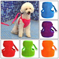 Wholesale Solid mesh pet harness with a dog chain traction rope