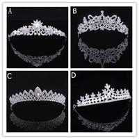 Wholesale Luxury Bridal Tiara Crown Crystal Pageant Bridal Wedding Accessories Headpiece Headband Wedding Tiara Rhinestone