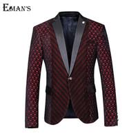 Wholesale 2016 High Quality Designer Men Blazer Heart Wine Red Single Button Wedding Blazer Fashion Slim Fit Mens Burgundy Blazer C1076