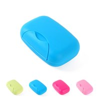 Wholesale Travel Outdoor Hiking Portable Bathroom Soap Dish Case Holder Container Box Small Size colorful