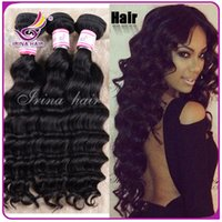 discount remy hair - BIG DISCOUNT Remy hair Weaves Weft Indian Deep Wave Virgin Hair Grade a Virgin Indian natural Wave Deep Wavy Human Hair Extension